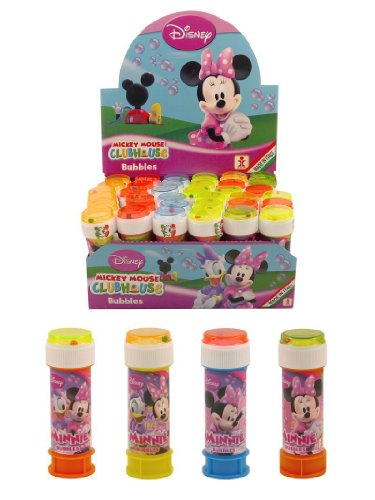 12 Tubs Of Minnie Mouse Bubbles Party Bag Toys Picked