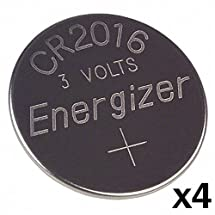 4pcs -- Energizer Cr2016 3v Lithium Coin Cell Battery Dl2016 Ecr2016 CR 2016