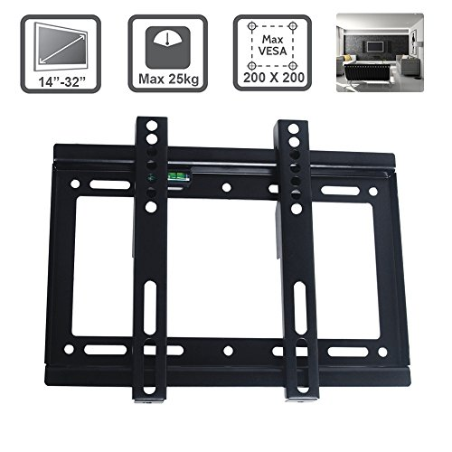 Excellent TV Wall Bracket for 14-32 Inch LCD LED Max VESA 200*200mm Super Strong 55 lbs Weight Capacity Mobile Handle Pole 223mm by EXCELLENT SHOPPING