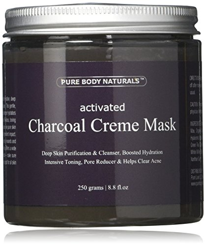 Pure Body Naturals Activated Charcoal Creme Face Mask, 8.8 Ounce (Pure Body Naturals Dead Sea Mask Review)