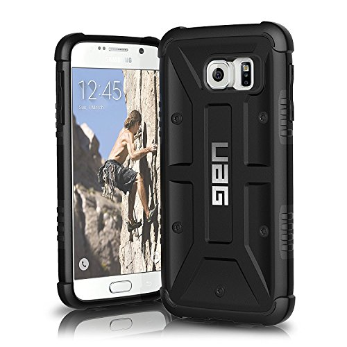 Blk Hybrid Silicone Earbuds - UAG Samsung Galaxy S6 [5.1-inch screen] Feather-Light Composite [BLACK] Military Drop Tested Phone Case