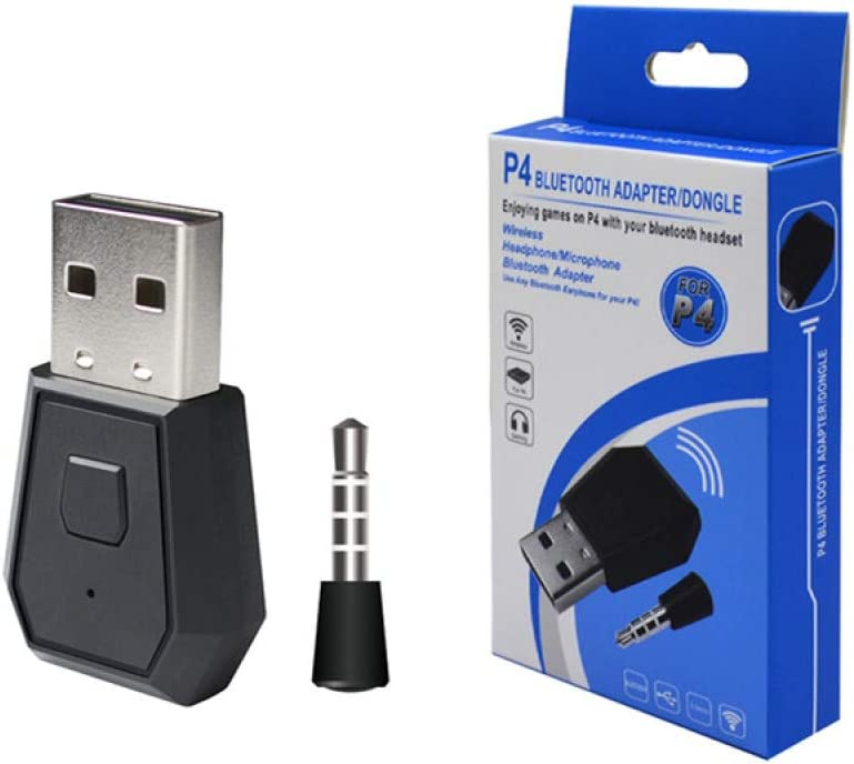 Sxgyubt - Adaptador USB Bluetooth para auriculares PS4, receptor portátil Gampad estable USB Dongle adaptador inalámbrico, negro, tamaño único