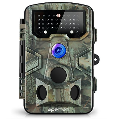APEMAN Trail Camera 12MP 1080P Game&Hunting Camera with 120°Wide Angle 44 PCs IR LEDs Night Version up to 20M/65FT IP54 Spray Water Protected Design by APEMAN