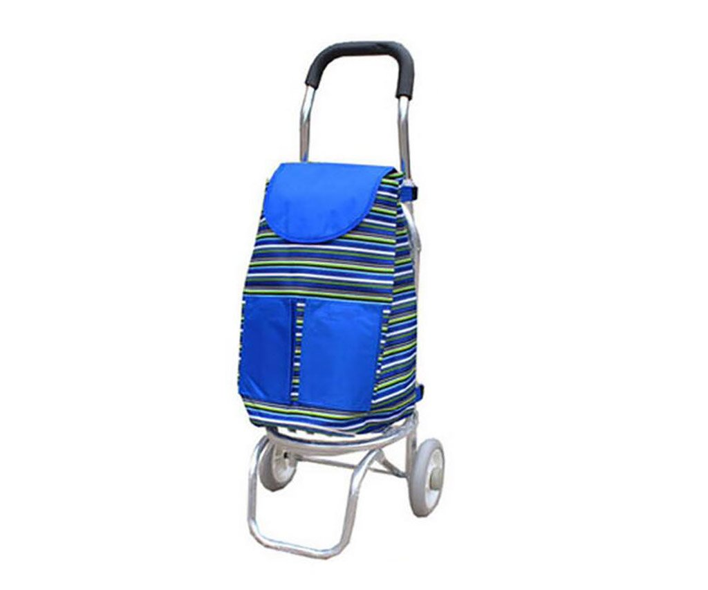 Small Trailer EXTR ANT Grocery Cart Aluminum Alloy Shopping Cart Color : B Trolley Portable Folding Bag