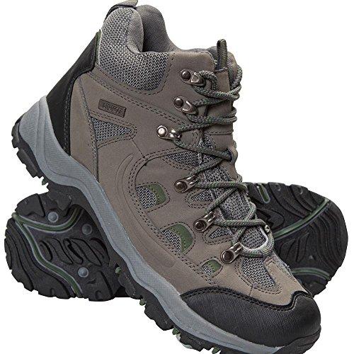 Mountain Warehouse Adventurer Mens Boots - Summer Walking Shoes Khaki 11 M US - Hiking Warehouse