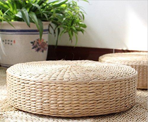 Tatami et coussin de sol en paille de maïs tissée à la main, M(40x11cm)
