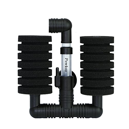 Powkoo Air Pump Sponge Filter Bio Filter for Aquarium Fish T