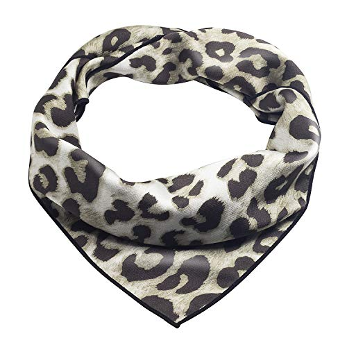 Women's Leopard Pattern Head Hair Scarfs Small Square Scarves 23
