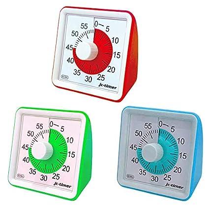 Classicoco Minuterie analogique visuelle 1 PCs 60 Minutes Minuterie analogique visuelle Compte /à rebours Silencieux Gestion du Temps pour Les Enfants Adultes