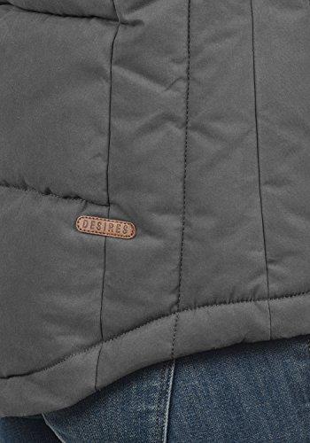 Women's with Quilted Desires Dark Grey 2890 Warmer Vest Body Lore Gilet Hood 5TZqaZR