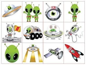 48 Alien Kids Tattoos Amazoncouk Toys Games