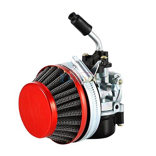 (Yosoo Carburetor Air Filter, Racing Carburetor Carb Air Filter for 50 60 66cc 80cc 2 Stroke Gas Motorized Bike Racing Bicycle (Red))