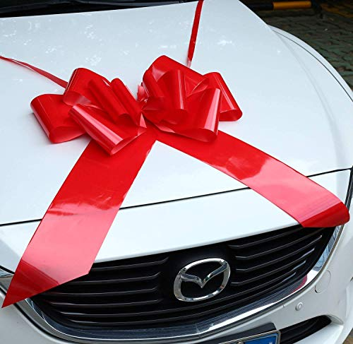 (Big Red Bow for Car | Car Bow Giant Red | 23