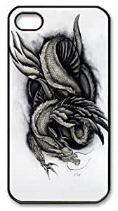 1000 Year Dragon PC Case Cover for iPhone 4 and iPhone 4S Black