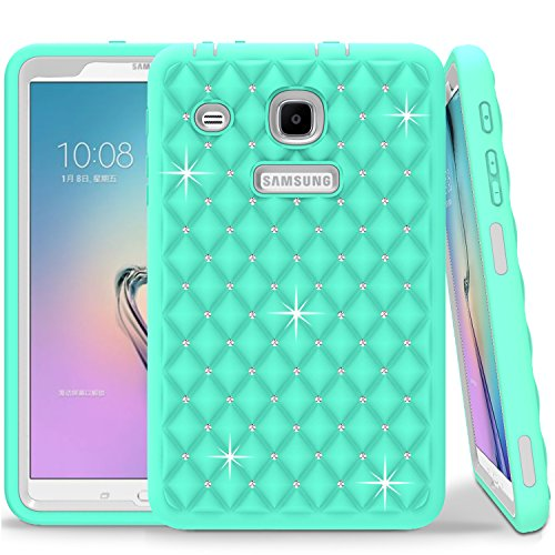Galaxy Tab E 8.0 Case, Shock Absorption & Dust Resistant Complete Protection Hybrid Case Protector for Samsung Galaxy Tab E 8.0 (2016) (Mint Green)