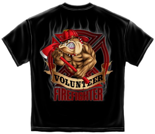 Firefighter Tools and Equipment | Fire Dog Volunteer Shirt ADD135-FF210L