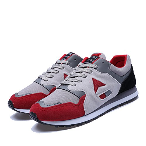 Zapatillas Red deportivas para hombre ocasionales con de FZDX correr niños para Zapatillas malla 013 cordones para qawfa4I6