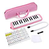 Piano 32 Key Melodica Musical Instrument for Music Lovers Beginners Gift with Carrying
