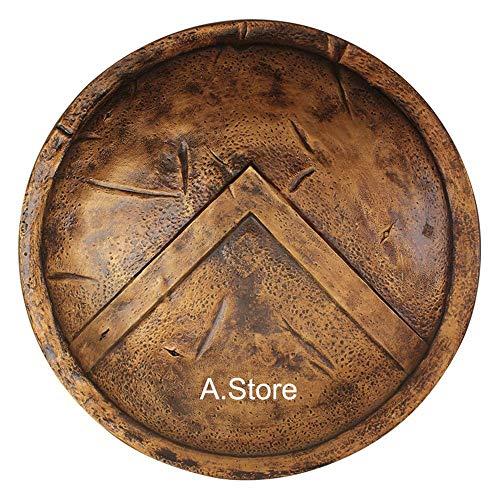 Medieval 300 Spartan Shield Antique Brass Finish -