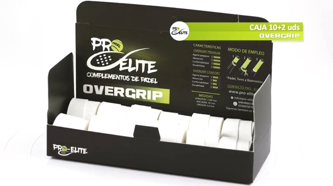 overgrips Pro Elite Confort Perforados Blancos. Caja 10+2 unds.: Amazon.es: Deportes y aire libre