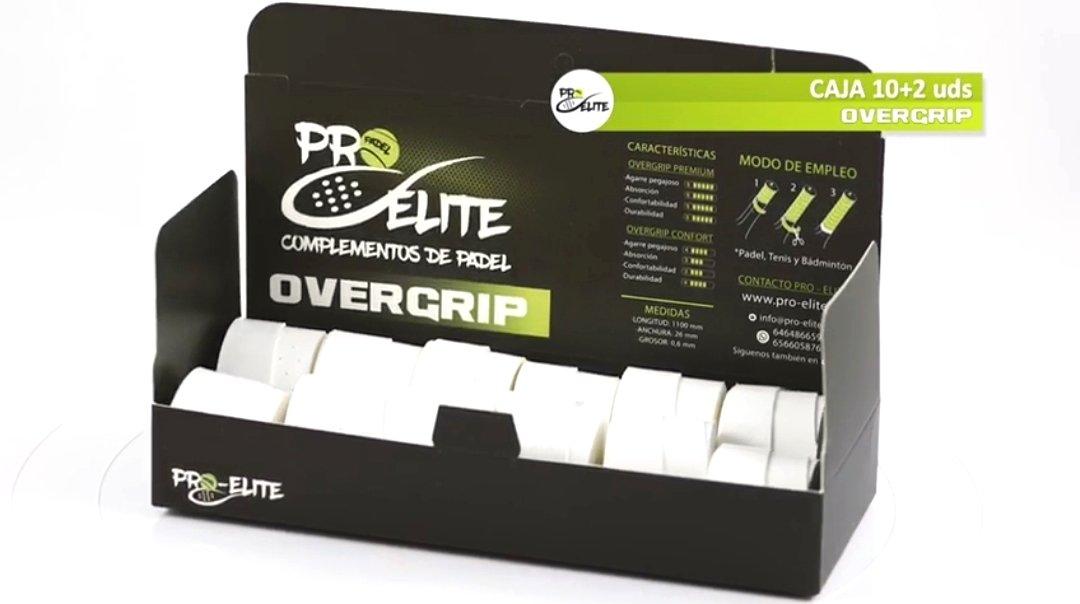 overgrips Pro Elite Confort Perforados Blancos. Caja 10+2 unds ...