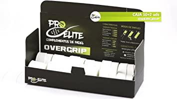 overgrips Pro Elite Confort Perforados Blancos. Caja 10+2 unds.