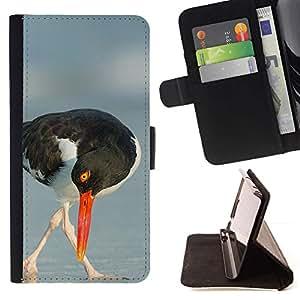 Momo Phone Case / Flip Funda de Cuero Case Cover - Été Mer Nature Oiseau - Samsung Galaxy S4 IV I9500