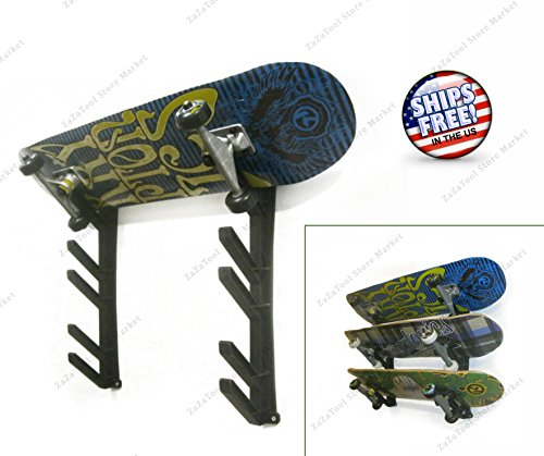 ZaZaTool - Ski Snowboard Skateboard Tool Garage Wall Rack Storage Display Mount - Store Sunglasses Aspen