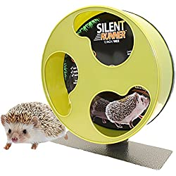 """Exotic Nutrition Silent Runner 12"""" Wide - Pet Exercise Wheel + Cage Attachment"""