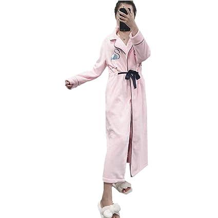 f732ada011 Womens Flamingo Super Soft Fleece Dressing Gown