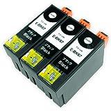 EPSON(エプソン) 高品質 互換インクカートリッジ ICBK67L【増量タイプ】ブラック3本セット 残量表示機能付 Angelshopオリジナル