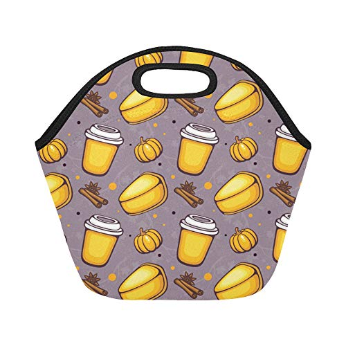 Insulated Neoprene Lunch Bag Cheesecake Dessert Afternoon Tea Large Size Reusable Thermal Thick Lunch Tote Bags For Lunch Boxes For Outdoors,work, Office, School]()