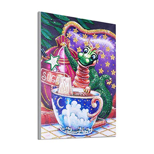 Orcbee  _Special Shaped Diamond Painting DIY 5D Partial Drill Cross Stitch Kits Crystal (C)