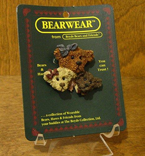 Boyds Bearwear Pin #2619 Justina, Bailey & M. - Bailey Harrison