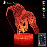 Best Creative Motion Changing Tables - Night Light for Kids Dinosaur 3D lamp 7 Review