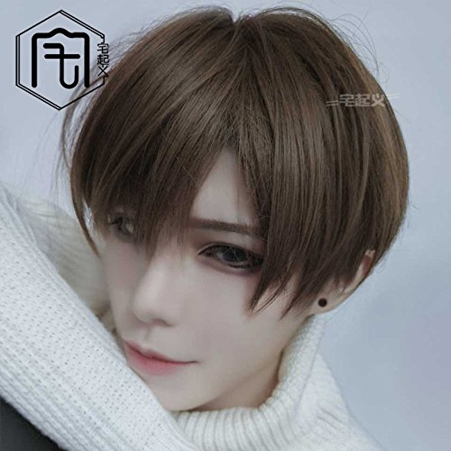 Student Portal Wig Repair Face Red Male Korean Students Send Fake Fluffy Girls Qi Liu Short Straight Handsome Realistic Sea Headgear