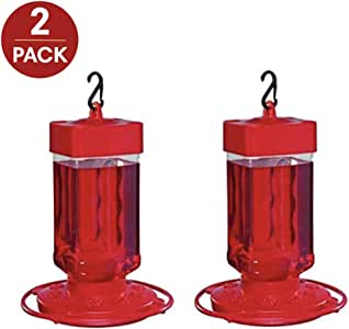 First Nature 3055 32-Ounce Hummingbird Feeder (Set of 2), Red (993055-44A)