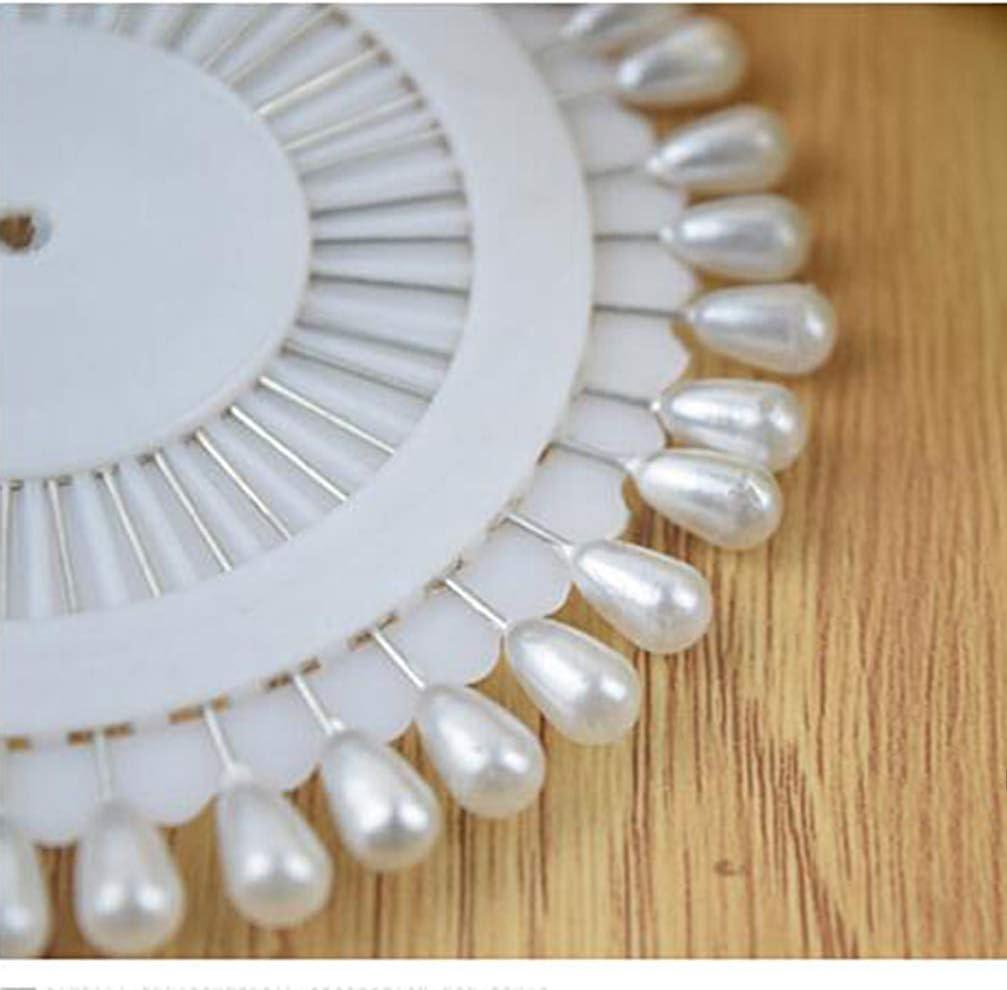 SUPVOX 288 piezas pines de costura perlas de bolas perlas cabeza pines alfileres de acolchado rectos para confecci/ón de joyas fabricaci/ón artesan/ía de costura decoraci/ón blanca