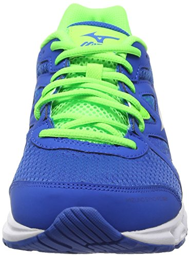 Mizuno Synchro MD, Chaussures de Running Compétition Homme Bleu - Blue (Skydiver/Silver/Green Gecko)