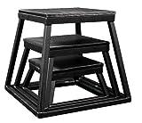 Plyometric Platform Box Set- 6'', 12'', 18'' Black