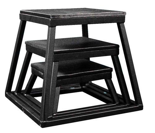 Plyometric Platform Box Set- 6'', 12'', 18'' Black by Ader Sporting Goods