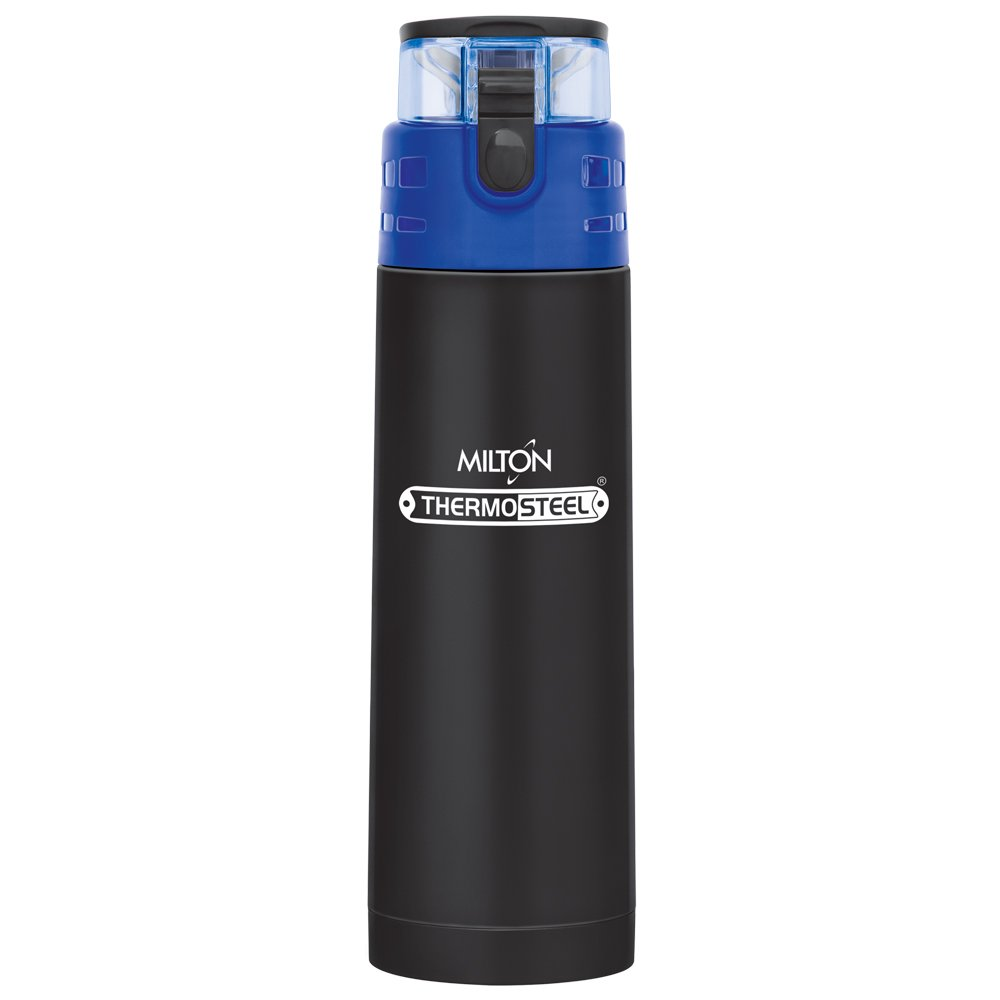 Milton Atlantis-600 Thermosteel Waterbottle,500 Ml,Black