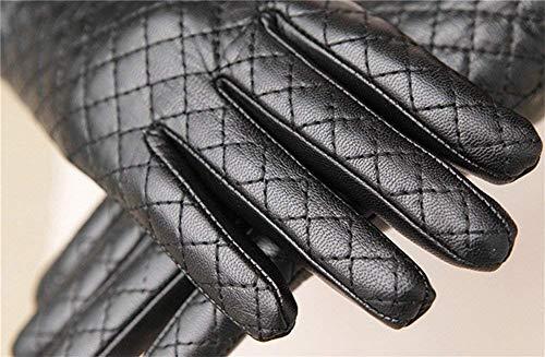 Black Calda In Guanti Accogliente T Moda Donna Da Pelle Invernali Muff RHgvf