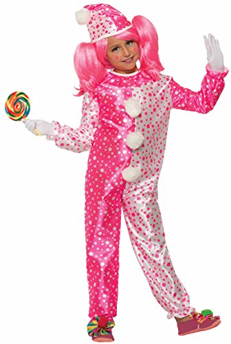 Forum Novelties Child's Value Pinkie The Clown Costume Pink/White ()