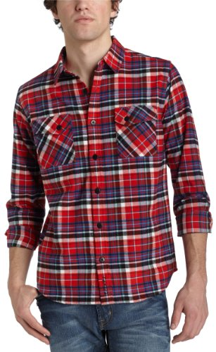 Ezekiel Men's Savage Flannel,Scarlet,Large
