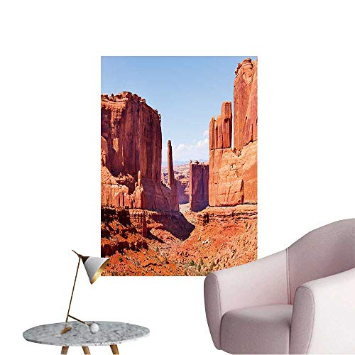 (Wall Decoration Wall Stickers Beautiful View of Park Avenue,USA During Summer Print Artwork,24