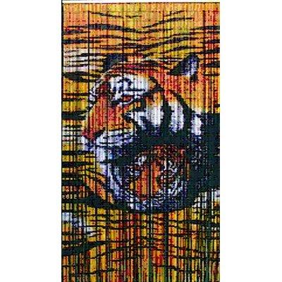 Natural Bamboo Tiger Design Curtain Single Panel (Tiger Bamboo)