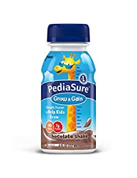 PediaSure Grow & Gain Nutrition Shake For Kids, Chocolate, 8 fl oz (Pack of 24)