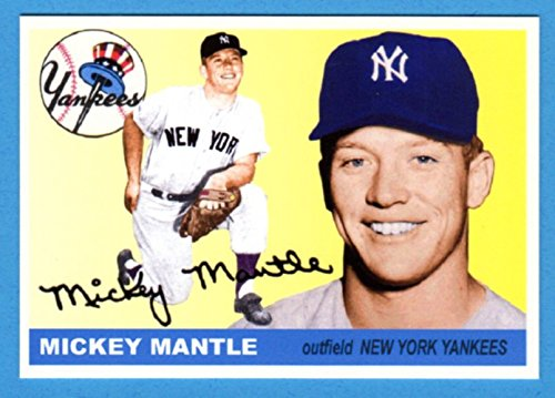 - Mickey Mantle 1955 Topps Classic Design Custom Card (Cream Background) (Yankees)