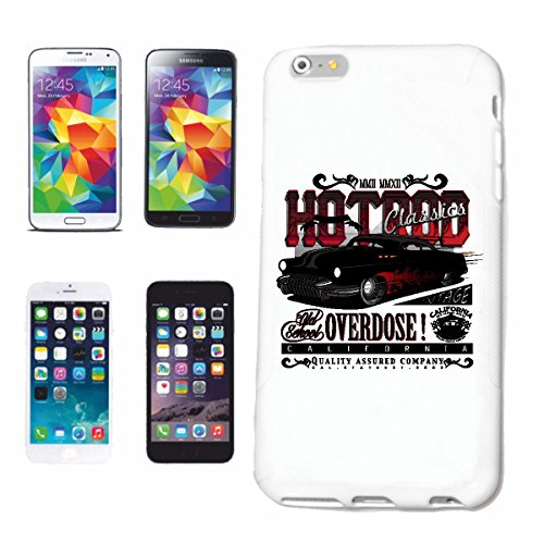 "cas de téléphone iPhone 6S ""CLASSICS HOTROD SURDOSE CALIFORNIA HOT ROD MOTORSPORT SPORT AUTOMOBILE RACING USA AMÉRIQUE ÉTATS-UNIS"" Hard Case Cover Téléphone Covers Smart Cover pour Apple iPhone en bla"